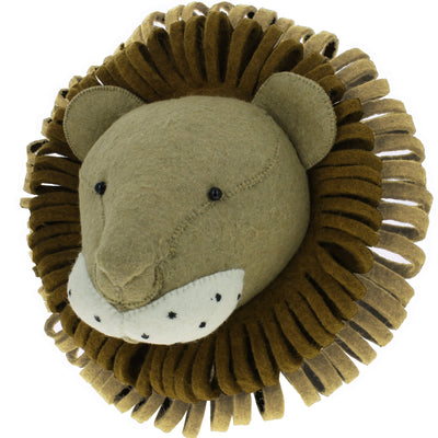 Felt Lion Wall Head