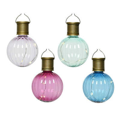 Set of Four Multi-coloured Solar Light Bulbs
