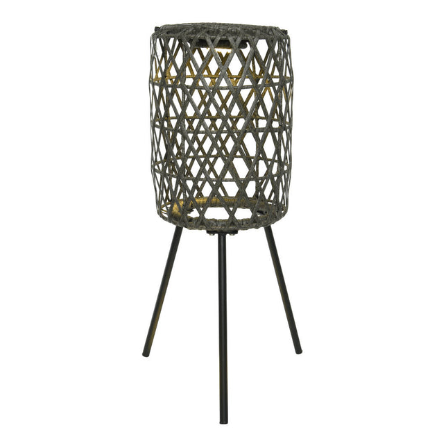 Tall Wicker Solar Lantern