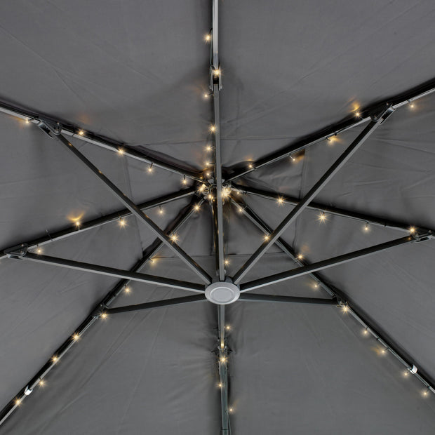 LED Solar Parasol Lights