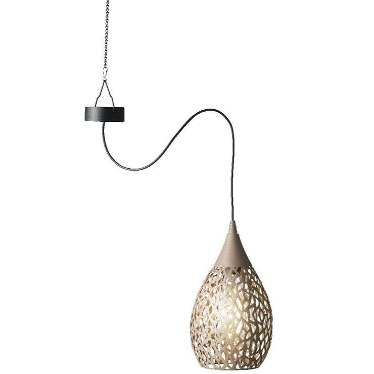 Fretwork Solar Pendant Light