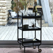Black Steel Bar Trolley