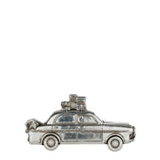 Silver Car with Christmas Tree Decoration