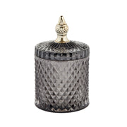 Charcoal Grey & Gold Glass Jar - PRE ORDER