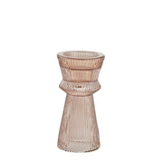 Pale Pink Fluted Glass Candle Stick - PRE ORDER