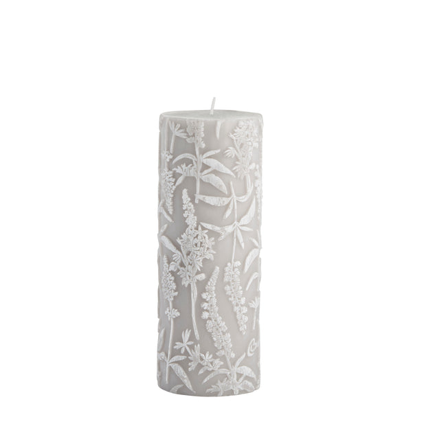 Silver Grey Meadow Flower Candle - PRE ORDER