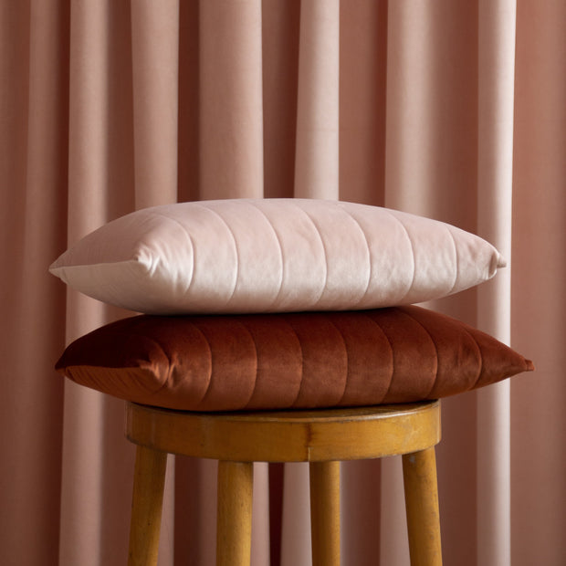 Bloom Pink Akamba Velvet Cushion