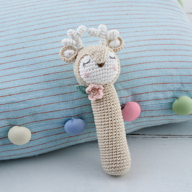 Baby Deer Crochet Rattle