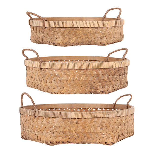 Natural Bamboo Nesting Storage Basket