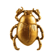 Gold Scarab Beetle Drawer Knob