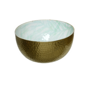 Gold Hammered Palm Leaf Bowls