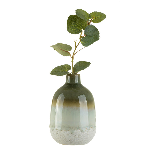 Miniature Green Ombre Glazed Vase