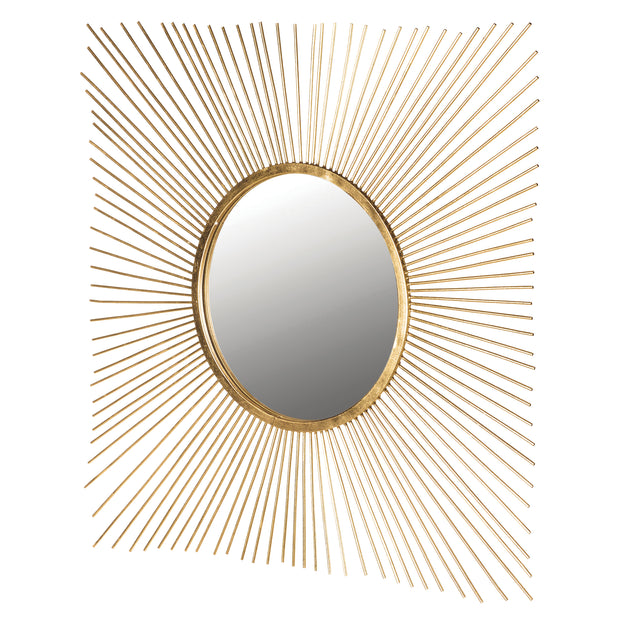 Square Sunburst Mirror