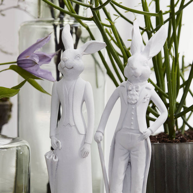 Lady & Gentleman Easter Rabbit Figurine