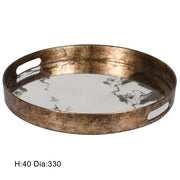 Gold Mirrored Decorative  Tray