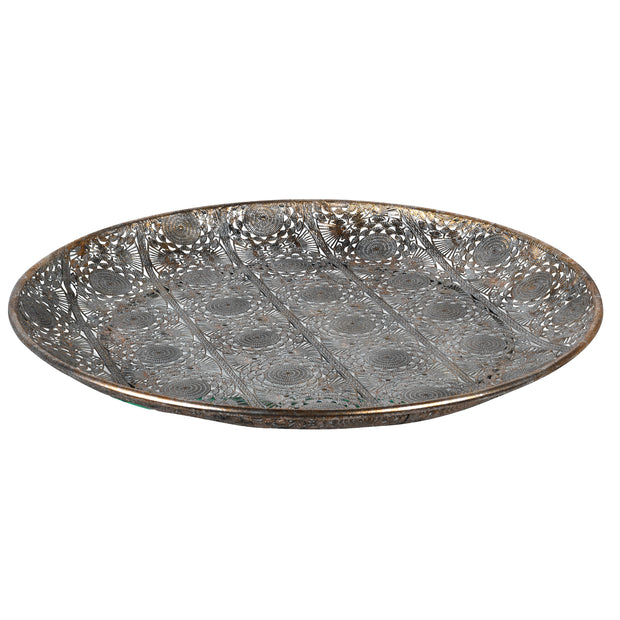 Large Round Filigree Tray