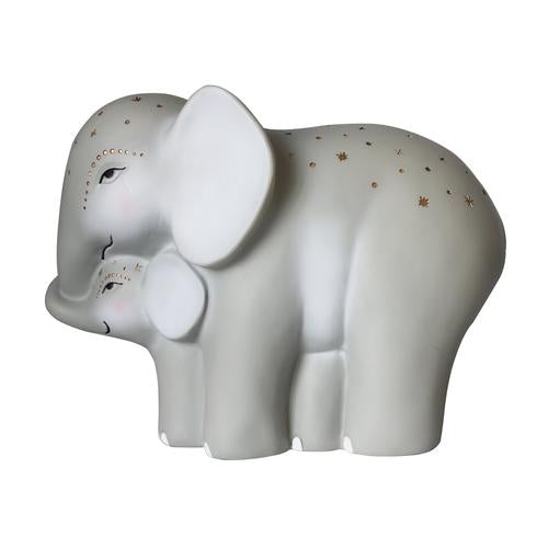 Mummy And Baby Elephant Night Light
