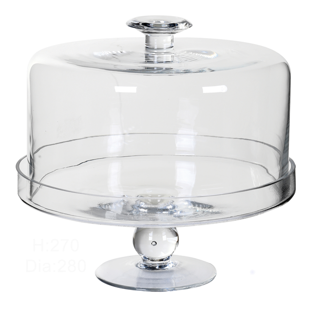 PRE-ORDER Glass Cake Stand With Dome