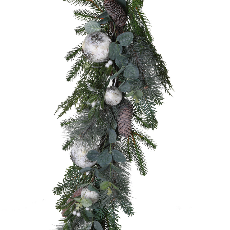 Mercury Glass Bauble Christmas Garland