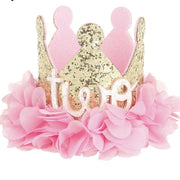Gold And Pink Birthday Crown