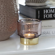Misty Rose And Gold Tealight Holder - PRE ORDER