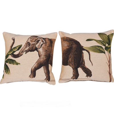 Tropical Elephant Cushion Two Part Set
