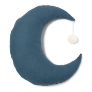 Night Blue Pierrot Moon Cushion
