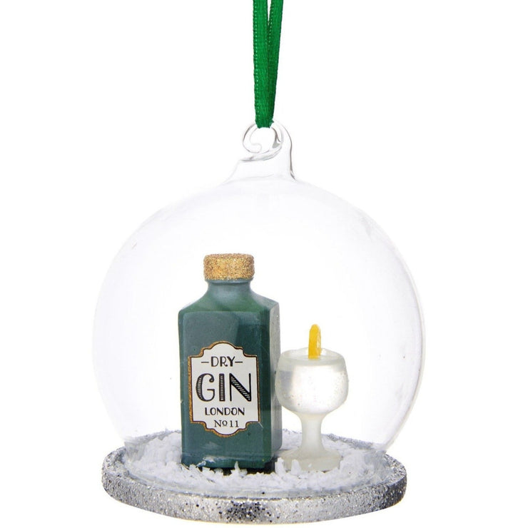Gin & Tonic Dome Glass Tree Decoration