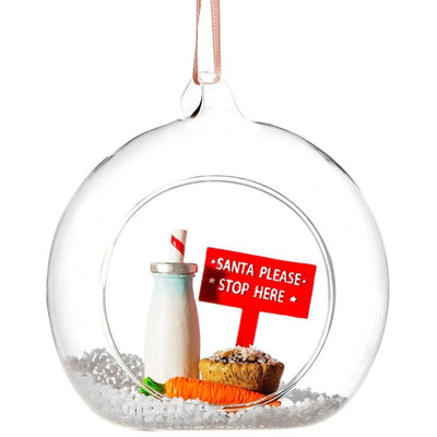 ' Santa Please Stop Here ' Bauble