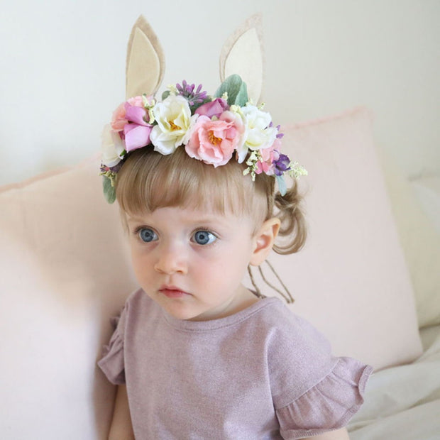 Easter Floral Rabbit Headdress