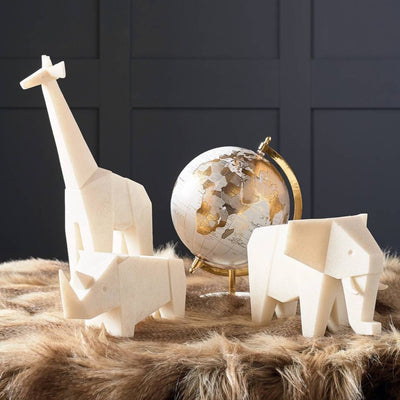 Geometric Quartz Safari Animal Decoration