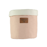 Organic Cotton Bloom Pink Nursery Basket