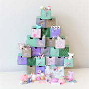 Girls Advent Christmas Tree Calendar With  Filler Set