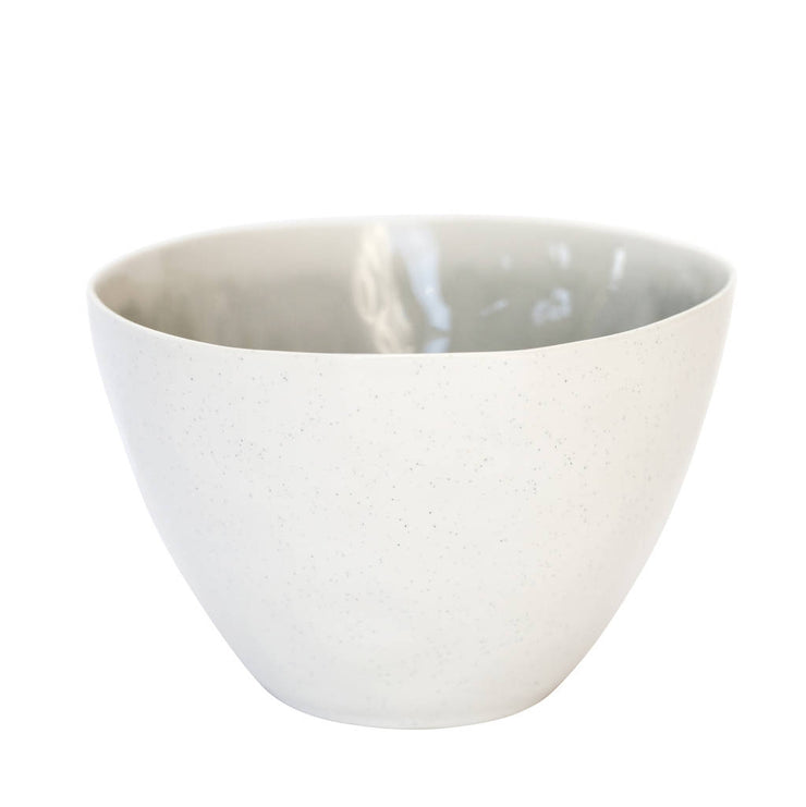 Porcelain Bowl With Inner Grey Glaze