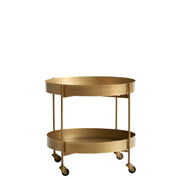 Brushed Gold Trolley Tables