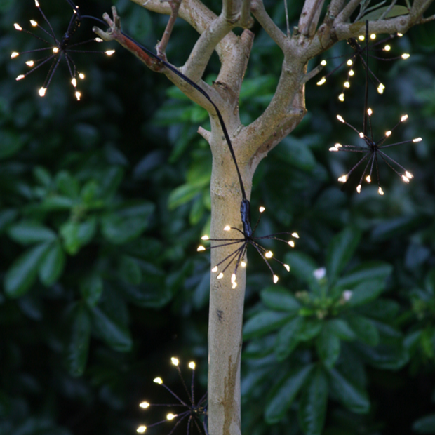 Black Starburst Outdoor LED Light Chain