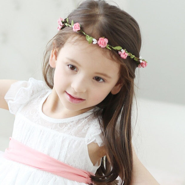 Pink Trailing Flower Hairband