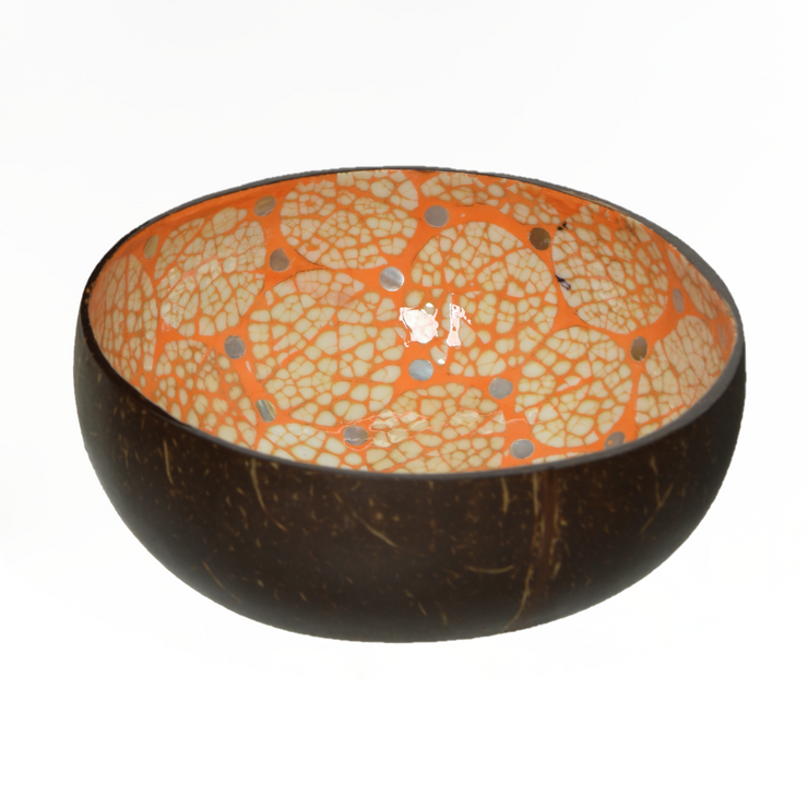 Coconut Bowl With Decorative Inlay