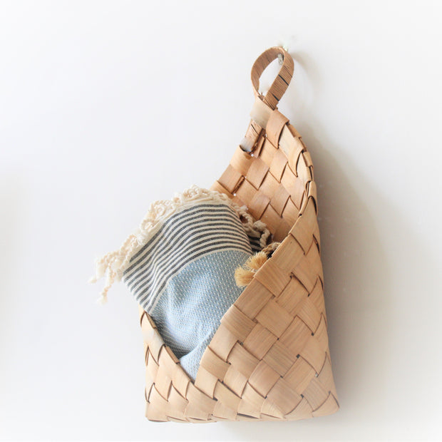 Natural Weave Hanging Storage Basket