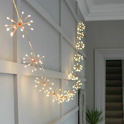Copper Starburst LED Light String