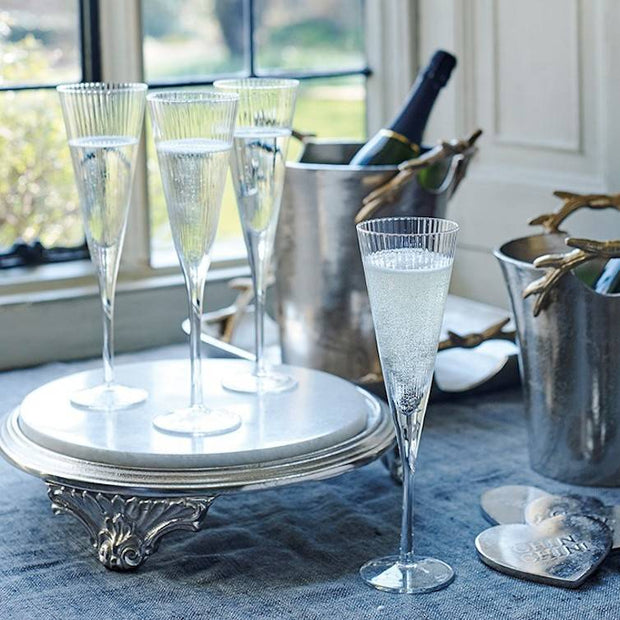 Set of Two Fluted Champagne Glasses