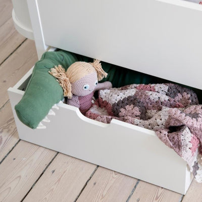 Classic White Sebra Bed Drawer