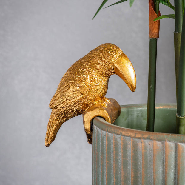 Gold Toucan Pot Hanger Decoration - PRE ORDER