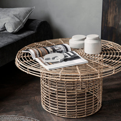 Natural Rattan Coffee Table