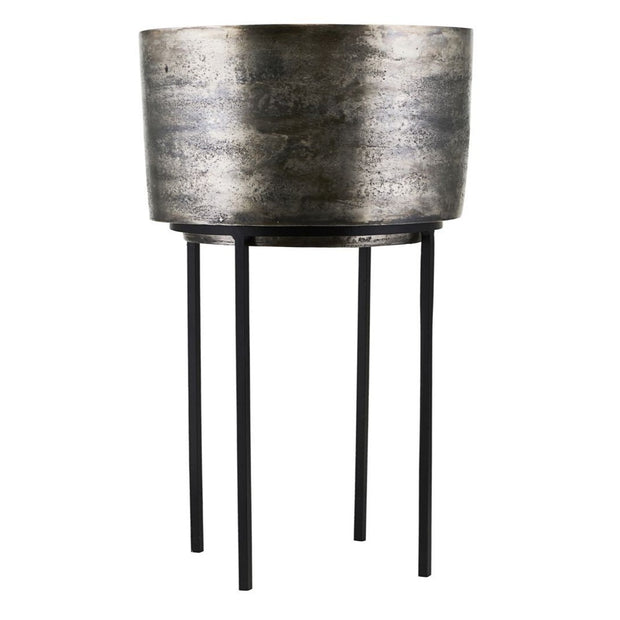 Silver Oxidised Kazi Planter