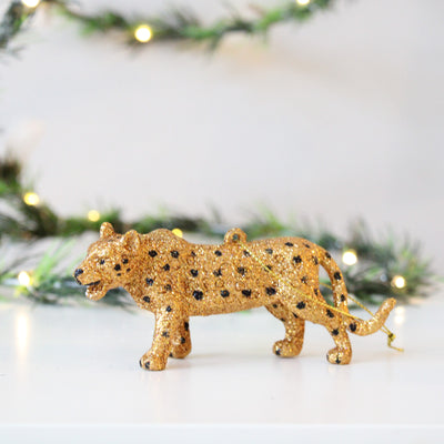 Gold Glitter Leopard / Tiger Decoration