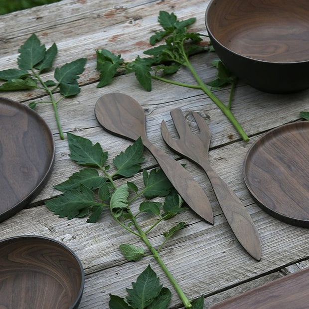 Bamboo Serving Spoon & Fork