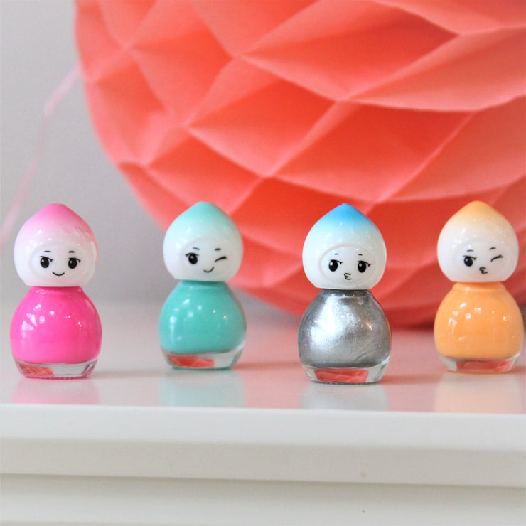 Set Of Six Cute Doll Nail Varnish