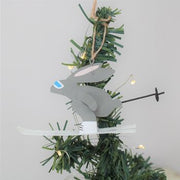 Skiing Rabbit Tree  Decoration