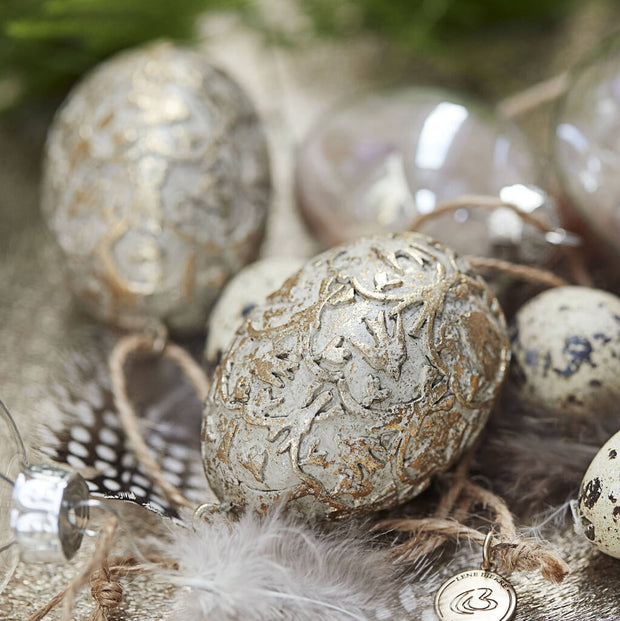 Ornate Gold Easter Egg Decoration